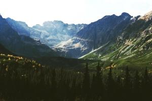Слънцето, планина, долината, пейзаж, планински връх