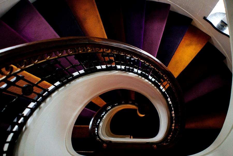 Intérieur, coloré, escalier