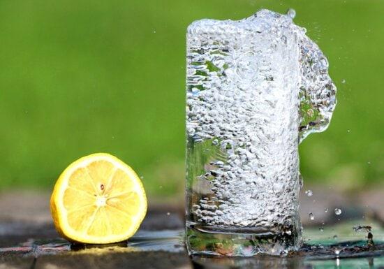 water, lemon, fruit juice, drink