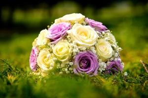 casamento, buquê, arranjo, decoração, rosa