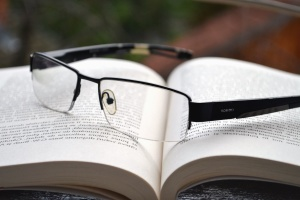 eyeglasses, book, letter, word, learning, science, study