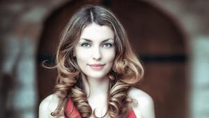 여자, 아름 다운 사진 모델, 헤어, 웃 고, 파란 눈