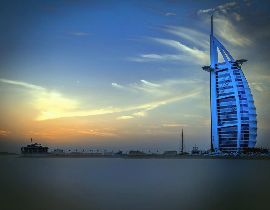 building, sky, ocean, sea, modern, architecture, exterior