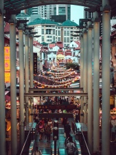 asia, decoration, street, roof, building, houses, people, shopping center