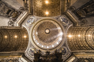 ceiling, dome, church, art, architecture, building, light, statue