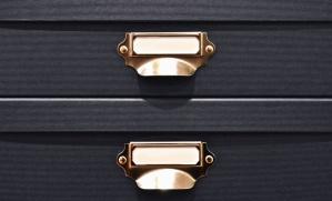 Metallo, maniglia, cassetto, legno, mobili