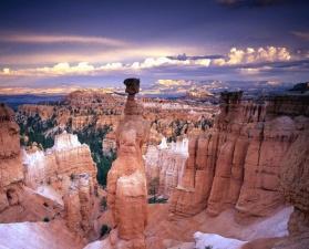 canyon, rocks, cloud, sky, landscape