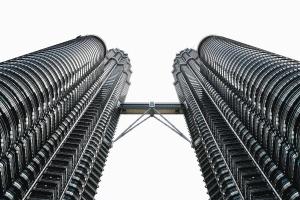 building, bridge, architecture, construction, office building, facade, glass