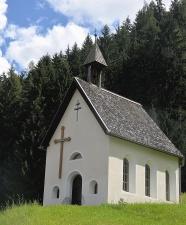 Iglesia, bosque, árbol, cruz, montaña, religión, cristianismo