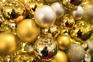 decoration, new year, christmas, reflection, gold, light