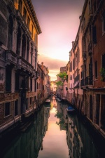 canal, water, building, architecture, boat, reflection