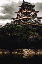 Asia, madera, construcción, arquitectura, techo, edificio