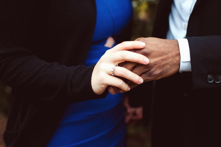 hand, male, female, ring, jacket, shirt, dress