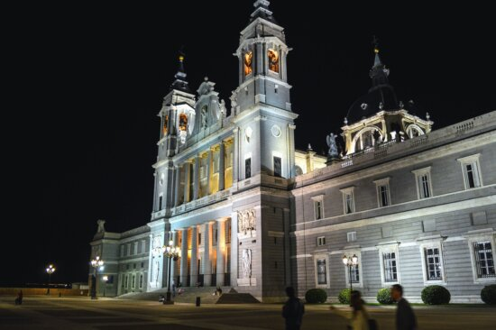 building, historic, window, facade, tower, cross, street lamp