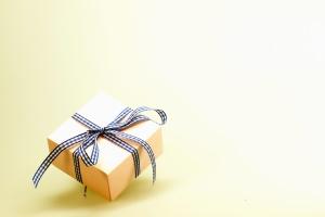 ajándék, meglepetés, szalag, papír, ünnep