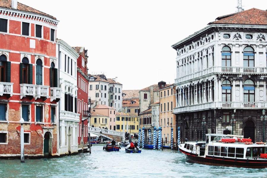 Canal, bâtiment, architecture, bateau, tourisme, fenêtre, façade