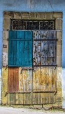 doors, colorful, metal, paint, house, architecture