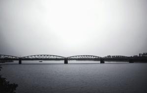 water, bridge, arch, river, pillar, boat, structure
