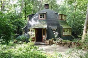 Haus, fenster, natur, baum, wald, tür, architektur