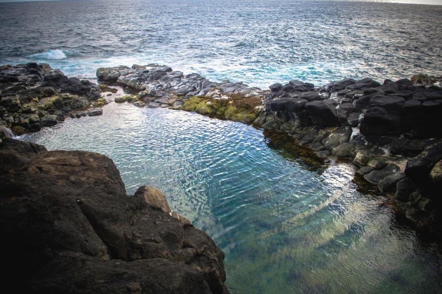 more, kamenje, val, odraz, voda