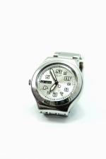 Reloj de pulsera, metal, hora, minuto, pulsera