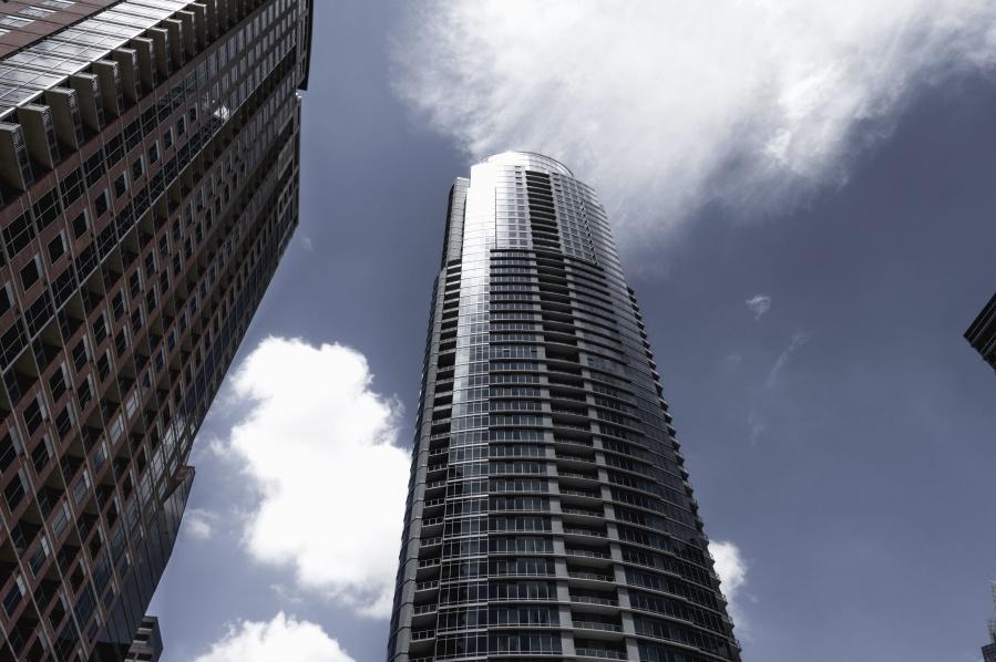 building, architecture, city, sky, cloud, window, reflection