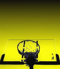 basketball, ball, styret, nett, sport