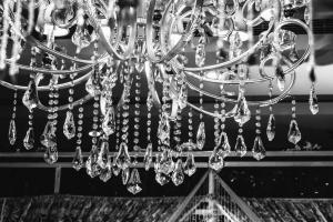 kroonluchter, kristal, plafond, luxe, lichte, huis, plafond