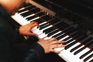 Piano, musicien, artiste, son, main, pianiste