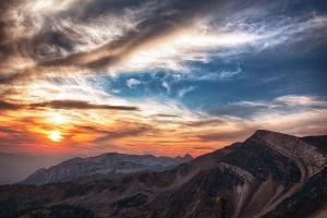 планината, слънцето, небето, скали, природа, Клиф