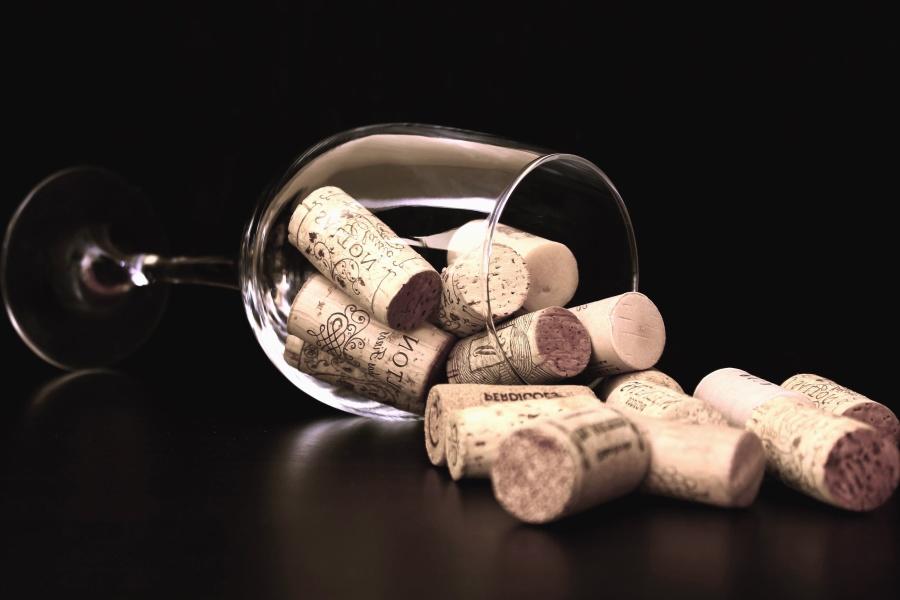 Kork, Glas, Holz, Flasche