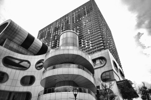 Architettura, costruzione, città, urbano, ufficio, costruzione, cielo, moderno, affari, torre