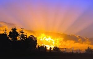 Слънцето, атмосфера, залез, небе, Изгрев, силует, здрач