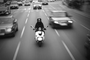 motorfietsen, auto, weg, verkeer, auto