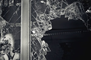 Glas, Fenster, gebrochen, Linien