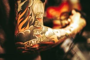 Persona, personas, tatuaje, foto, modelo, mano, colorido