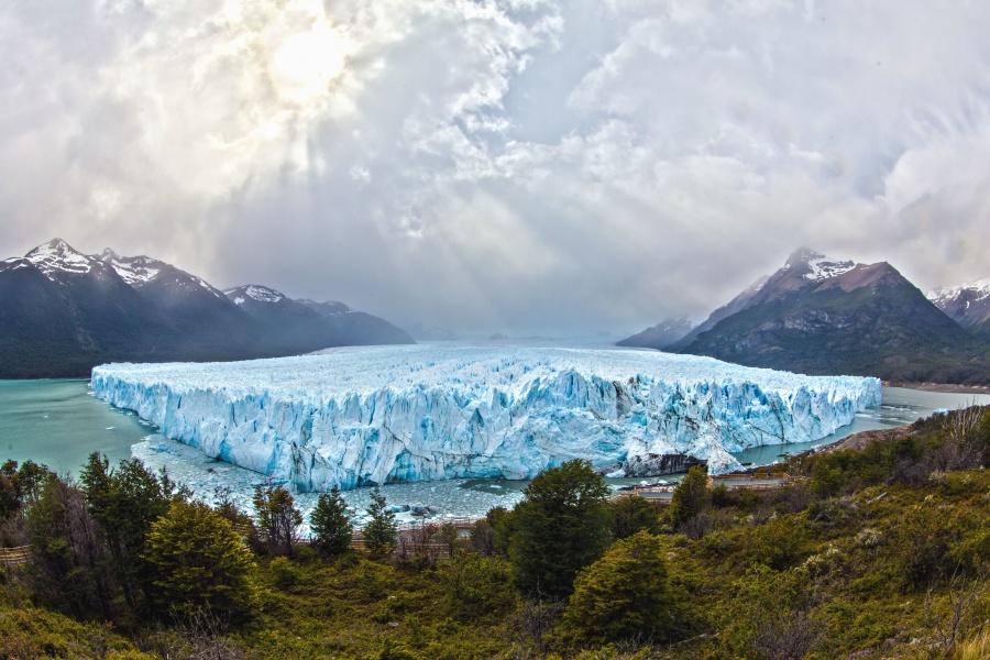 mountain, glacier, snow, landscape, sky, travel, valley