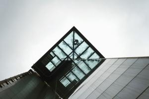 xây dựng, kiến trúc, thủy tinh, phản ánh, thành phố, xây dựng