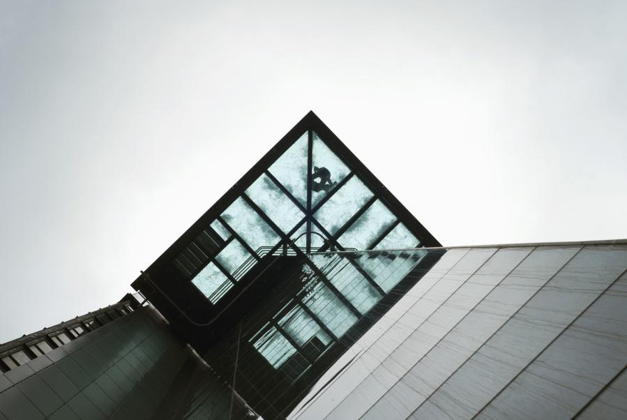 bygning, arkitektur, glass, refleksjon, byen, konstruksjon