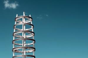 Structure, métal, ciel, extérieur