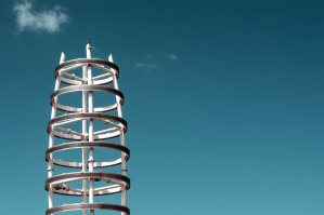 Estructura, metal, cielo, exterior