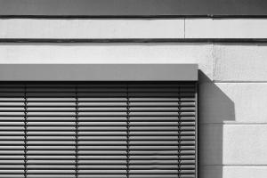 building, window shutters, metal, wall