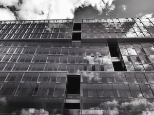 Architektura, městská, sklo, obloha, stavba, dům, exteriér, podnikání, okno