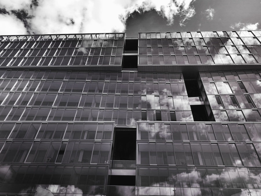 arhitekture, urbanog, staklo, nebo, gradnja, kuća, eksterijer, poslovni, prozor