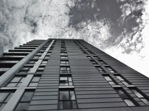 bầu trời, kinh doanh, kiến trúc, hiện đại, cửa sổ, đám mây