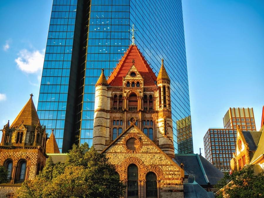 Église, architecture, tour, religion, voyage, cathédrale, tourisme, bâtiment, verre