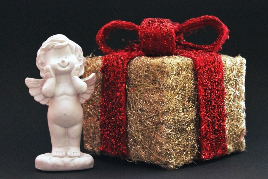 Weihnachten, Dekoration, Geschenk, Urlaub, Engel, Statue
