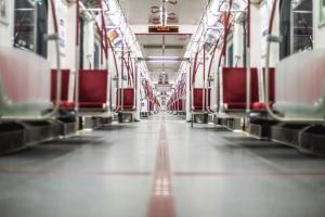 metra, wnętrze, okno, wagon, pojazdu, światło