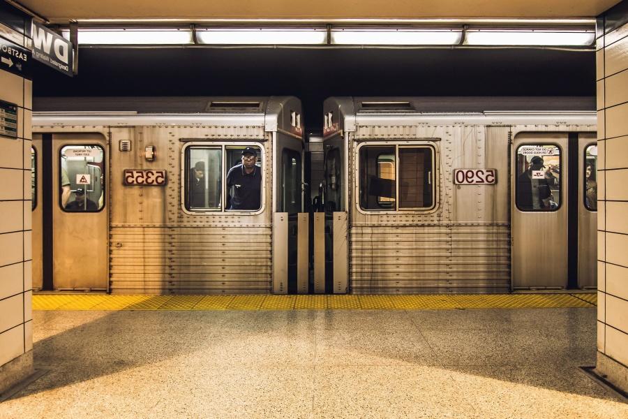 Treno, vagone, luce, metropolitana, piastrelle da parete