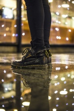 shoes, footwear, leather, pants, floor, reflection, light